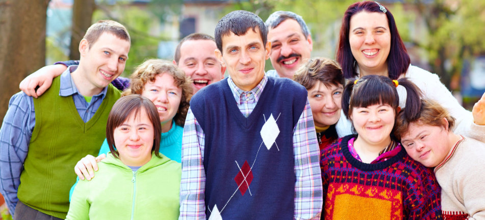 group of people with special needs
